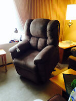 Microsuede Powerlift Reclining Chair, good as new