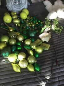Luxury Lime green Christmas decorations