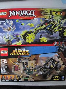 Lego DC Super Heroes & Ninjago building sets BNIB