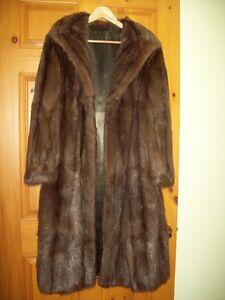 Fur Coat Muskrat Dark