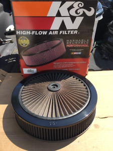 K&N Extream  14 inch Air Cleaner with Flow Through top.
