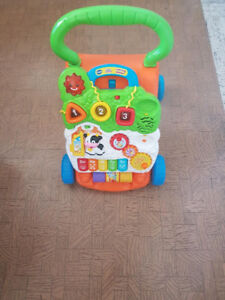 VTech musical walker and memory foam changing pad - Almost new