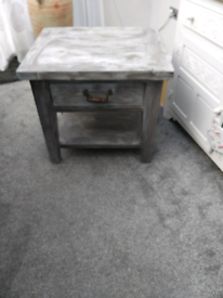 Solid wood table, upcycled with chalk paint.