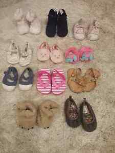 baby girl hats and shoes and boots size 2-4