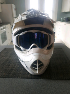 509 snowmobile helmet and goggles