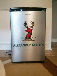 Stainless Steel Alexander Keith Mini Fridge