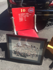 Canadiens seat and framed print