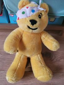 Paddington bear and Pudsey build a bear soft toys