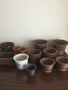 Various Sized Chinese Terracotta Pots