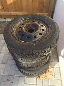 4x 16in rims and tires - tires not suitable for much use
