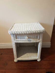 White Basket Side Table's