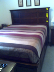 Queen Bed & 2 night tables