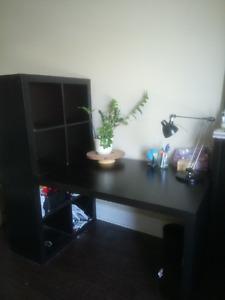 Desk & Attached Shelf Unit $40 obo / Pick up near 663 Princess