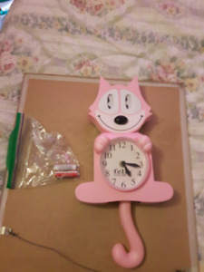 FELIX THE CAT CLOCK- TAIL AND EYES MOVE- PENDING PICK UP