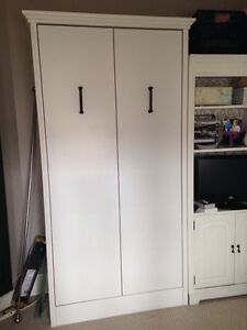 Single white Murphy bed from Costco - like new