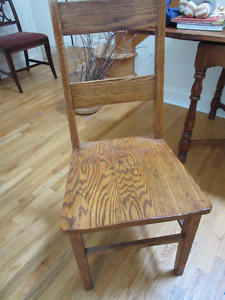 Gorgeous vintage solid oak high back chair