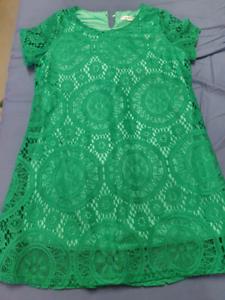 Green lace dress size 14