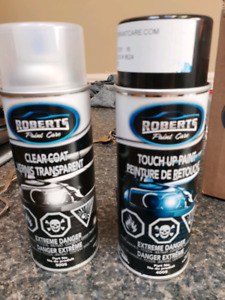 Roberts professional Olympic white roundup paint/clear coat
