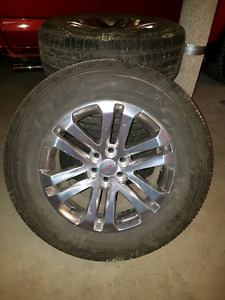 """Four 18"""" Tires and Chrome Wheels"""