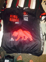 Road biking jerseys winter and summer, and cleats