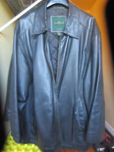 Mens Danier XL Black Leather Jacket