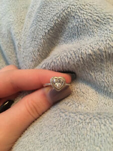 Heart Shaped Authentic Pandora Ring