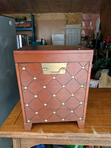 Used modern end table/trunk with a couple of scratches
