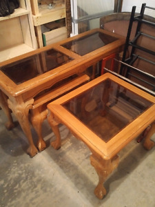 Sofa and end tables