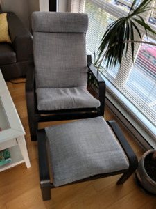 Poäng rocking chair and foot stool