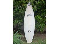 "Surfboard Lost Collectors Chris Wards shaped by Matt Biolos 6'1"". 18.63"". 2.32"" SDIII"