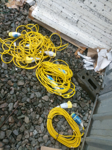 110v extension cord, used for sale  Knowle, Bristol