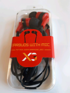 Xpress GEAR Earbuds with Mic - Red