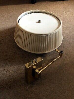 Original brass American Hansen wall light; articulated arm extending to 42cm