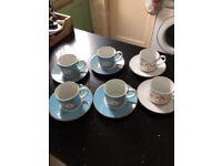 Pip Studio Lovebirds 6 x teacups and saucers