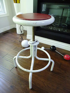 retro INDUSTRIAL CHIC machinist stool DRAFTING swivel MAN CAVE