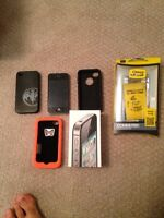 Iphone 4S with 3 cases