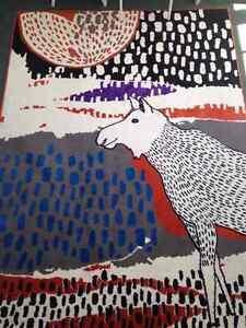 Cute & Colourful Llama Area Rug