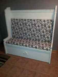 Solid Wood Deacons Bench Shabby Chic/Distressed London Ontario image 1