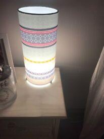 Next pink printed lamp