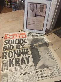 The Krays news paper