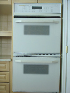 """27"""" Kitchen Aid double wall oven"""