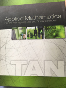 Applied Mathematics for the managerial, life and social sciences