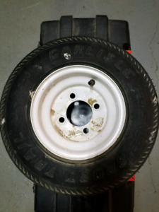 Trailer tire & jack screw