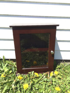 """Small wall cabinet - 14"""" W x 17.5"""" H x 6.5"""" D"""