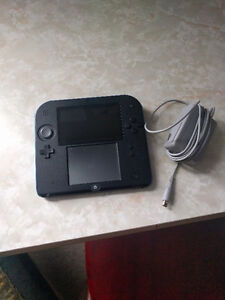 Nintendo 2DS with charger and new SD card
