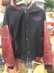 VINTAGE VOLVO TRUCK CLOTH LEATHER VARSITY JACKET XXL - PARKER PI