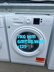 Hotpoint 7kg washing machine free delivery in Nottingham