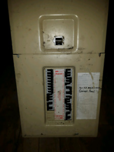 Federal Pioneer 200 amp panel with breakers