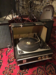 2 Vintage Portable Record Players