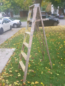 Vintage wooden 6 foot step ladder